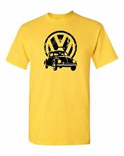 VW Bug & Logo T Shirt 100% Cotton Tee by BMF Apparel Colors
