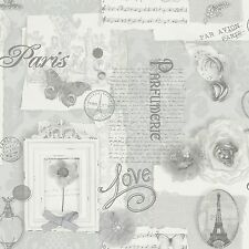 Arthouse VIP Felicity Silver Wallpaper 665401 Paris Butterfly Flower