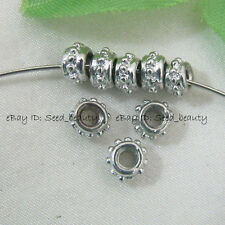 50x Bali Style Alloy Metal Spacer Beads 3mmX5mm s$0.5