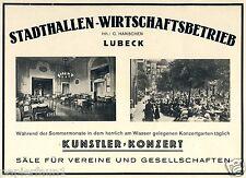 En lugar de halle economía Lübeck publicitarias 1925 HANSCHEN cerveza jardín artistas concierto
