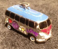 VW Bus 925 Sterling Silver Keychain Charm Love Hippy Camper Van Surf Kombi CUTE