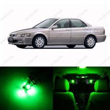8 x Green LED Lights Interior Package For Honda ACCORD 1994 - 1997 Sedan LED Kit