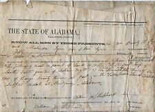 1856 Tallapoosa County Alabama manuscript real estate document SHEPHEARD & LYNN