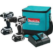 MAKITA 2PC 18V COMPACT LITHIUM ION CORDLESS COMBO KIT - MODEL CT200RW