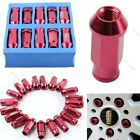 D1 SPEC RACING JDM WHEEL LUG NUTS M12 X 1.5 20PCS FOR TOYOTA HONDA FORD RED