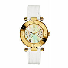 GUESS COLLECTION SWISS MADE GC $400 Gold MOP Leather Womens Watch I25039L1S
