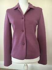 EUC Jil Sander Purple Jacket Schurwolle Fleece Wool Size 2 Euro 34