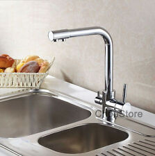 Pure Drinking Water Spout Luxury 3 Way Kitchen Sink Faucet Mixer Swivel Tap 031