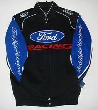 Size 3XL Authentic Ford Racing Embroidered Cotton Jacket JH Design Black