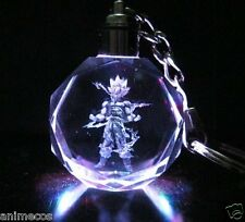 Dragon Ball Dragonball Z Super Saiyan Goku Crystal Key Chain Keyring LED Pendant