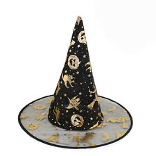 Hot Halloween Fancy Dress Costume Accessory Props Black Witches Hat Adult Women