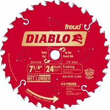 "7 1/4"" 24T Freud Diablo Circular Saw Blade DO724A 10Pk"