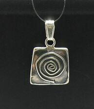 STERLING SILVER PENDANT SOLID 925 SPIRAL PE000414 EMPRESS