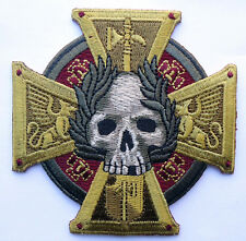 CELTIC CROSS SKULL EMBROIDERED INFIDEL CRUSADER MORALE HOOK LOOP  PATCH