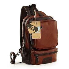 Koolertron Vintage PU Leather Shoulder Backpack Sling Chest Sport Hiking Bag Bic