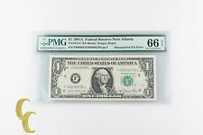 1981-A $1 Federal Reserve Note S/N Error Fr#1912-F Graded Gem Unc 66 by Pmg