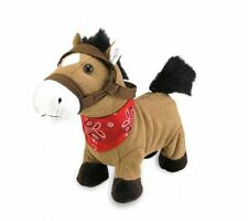 "Cuddle Barn 10″ Pony Plush Gallop Horse Toy Sings ""Giddy Up Lil' Cowboy"" CB71053"
