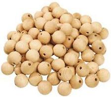 10 sfere in legno con foro 10 mm