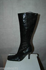 BOTTES HAUTE MARE TAILLE 36,5 LEATHER BOOTS/BOTAS/STIVALI 100 % CUIR VERNIS NEUF