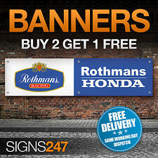 Rothmans Racing Honda Logo garage workshop PVC banner sign (ZA163)