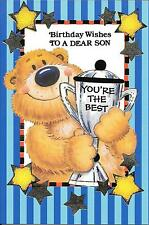 BIRTHDAY CARD TO A DEAR SON - SILVER TROPHY - YOU'RE THE BEST
