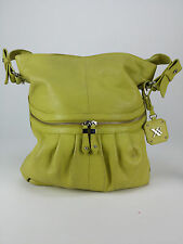 MAXX New York Large Citron Green Hobo Shoulder Bag Pebble Leather
