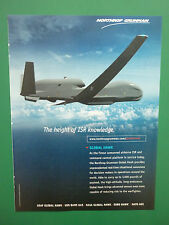 5/2010 PUB NORTHROP GRUMMAN UAV DRONE GLOBAL HAWK ISR USAF ORIGINAL AD