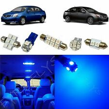6 Piece blue LED interior conversion package kit and license plate lights NS1B