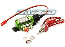 Alloy Aluminum Winch with switch for 1/10 Crawler Truck SCX10 WRAITH D90 GREEN