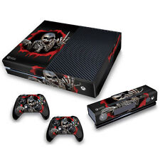 Xbox One Skin Stickers PVC for Xbox One Console & 2 Pads *Finger Skull""