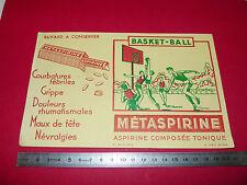 BUVARD NATATION METASPIRINE ASPIRINE LABORATOIRE PHARMACIE MEDICAMENT 1950-1960