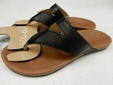 OLUKAI WOMENS SANDALS LALA BLACK TAN SIZE 8