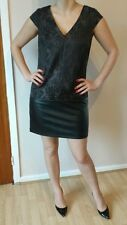 NEXT  TAILORED LEATHER HEM DRESS SIZE 12 NEW WITH TAGS