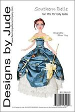 "Southern Belle Doll Clothes Sewing Pattern for 15.75"" City Girl Dolls Tonner"