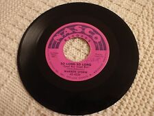 WARREN STORM SO LONG SO LONG/I'VE GOT MY HEART IN MY HAND NASCO 6028