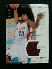LeBRON JAMES 2003-04 UPPER DECK UD GLASS GAME GEAR ROOKIE JERSEY SP RC!NON-AUTO