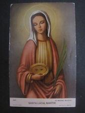 Estampa religiosa antigua SANTA LUCIA MARTIR holy card
