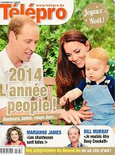 french magazine Télépro N°3173 kate middleton william et george 2014