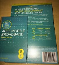 EE 4G SIM + 200MB + £15 Credit to buy More Data. For iPads, Tablets, Dongles etc