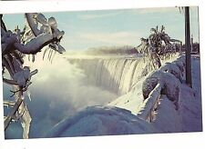 HORSE SHOE Falls in Winter FROZEN Spray Water  NIAGARA Ontario  Canada Postcard