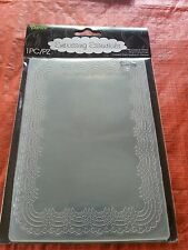 "DARICE EMBOSSING FOLDER - 5"" X 7"" - DOILY BACKGROUND- 1218-99 CARD MAKING"