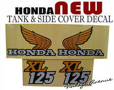 HONDA XL125 K0/K1/'76 1974 1975 1976 FUEL TANK & SIDE COVER DECAL