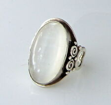Gorgeous HUGE Ornate Signed Sajen Sterling Silver Clear Quartz Size 10 Ring