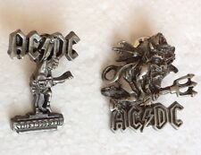 ACDC Angus Young Bon Scott Metal Pin Badges Rock, Heavy Metal, Biker Alchemy Rox