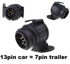 13 pin to 7 pin TRAILER TOWBAR TOWING SOCKET ADAPTOR PLUG CONVERTER