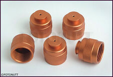 5 Paintball HPA/CO2 Tank Thread Protector Cap Thread Savers ORANGE / COPPER np