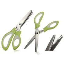 Fabric Zig Zeg Edge Tailor Sewing Dressmaking Shears Pinking Cut Craft Scissors