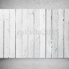 7x5FT Vinyl Retro White Wood Paint Floor Backdrop Photography Background Props