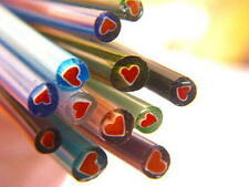 1/2lb Devardi Glass Rods Lampwork Coe 104 Chevron Heart