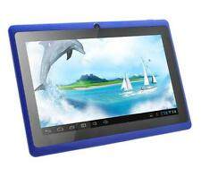 "7"" inch Blue Quad Core Android 4.4 KitKat Dual Camera Tablet PC 8GB Bluetooth"